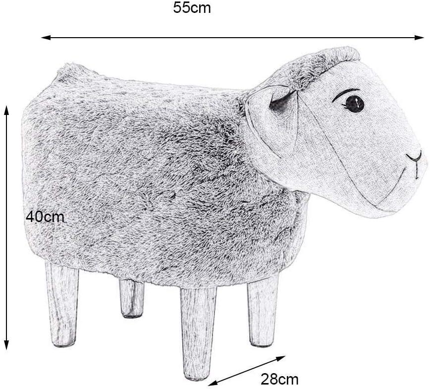 YUMUO Solide en Bois Animal Chaussure Tabouret Pouf Chaise Souple Siège Canapé Pouf Repose-Pied Décor À La Maison Meubles F0107 (Couleur: B) 3