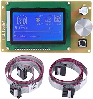 Ekran kontrolera LCD wyświetlacz kapelusz kontrolera LCD panel panelowy z kablem do drukarki 3D akcesoria, akcesoria do dr...