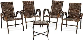 Conjunto de Cadeiras Cravo para área, varanda, edícula, varanda, Fibra sintética, artesanal ARGILA 50