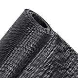 MAGZO Pet Proof Window Screen Replacement, 48'W x 99'L Upgraded Thicken Fiberglass Pet Resistant Adjustable Screen for Windows and Doors Heavy Duty DIY Window Screen Roll Patio Porch Screen Mesh Black