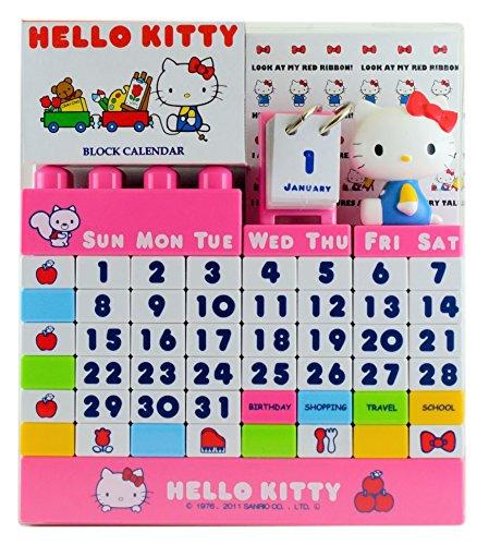 ハローキティ ブロックカレンダー カラー