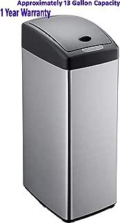 Simpli-Magic 79208 Stainless Steel Sensor Trash Can, Square, 13 Gallon, 13Gallon,