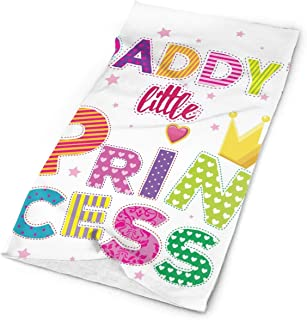 Daddy's Little Princess Funny Slogan Elastic Seamless Bandana Versatile Sports & Casual Headwear 9.8x19.7inch