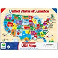 The Learning Journey Lift & Learn Puzzle - USA Map Puzzle for Kids - Preschool Toys & Gifts for Boys & Girls Ages 3 and Up - United States Puzzle for Kids - Award Winning Toys from The Learning Journey International