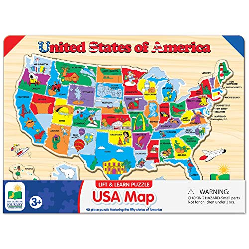 Product Image of the The Learning Journey Lift & Learn Puzzle - USA Map Puzzle for Kids - Preschool...