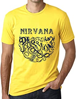 Men's Vintage Tee Shirt Graphic T Shirt Nirvana is Passion Yellow