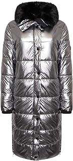 Rino & Pelle Laluna - Abrigo largo acolchado para mujer (aluminio)