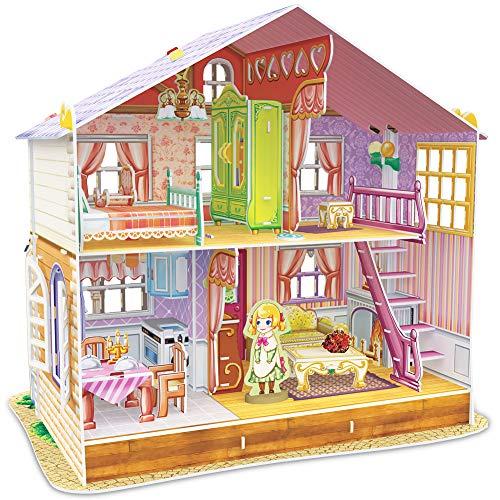 CubicFun p678h–3D Puzzle La Casa de Muñecas la casa de Sara 4Habitaciones