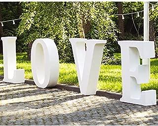 Oedim Palabras Love de Boda en Corcho | 60 cm de Altura x 15 cm de Grosor | Letras Fabricadas en Corcho Color Blanco | Letras de Corcho Elegantes y Originales