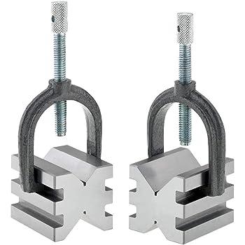 "Pair | Block Length: 2/"" #03001 GROZ Toolmaker/'s V-Block and Clamp Set"