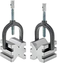 Grizzly Industrial T23889 - V-Block Set with Clamp-Double Slot