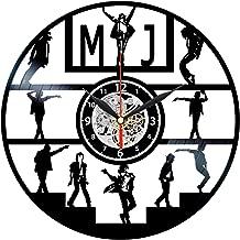 MJ Vinyl Clock - Record Wall Art - Thriller Decorations - Michael Jackson Gifts