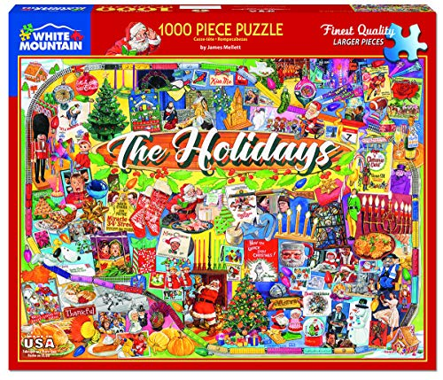 White Mountain Puzzles The Holidays - 1000 Piece Jigsaw Puzzle