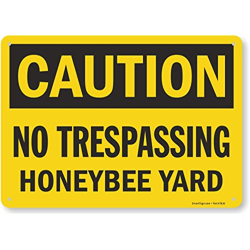 Honey Bees Busy At Work Heavy Duty Aluminum Warning Parking Sign 12 x 18