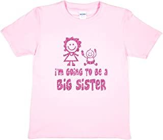 Print4u Girls T-Shirt I'm Going to Be A Big Sister
