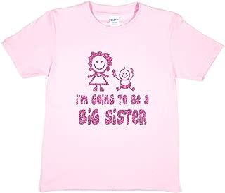 Print4u Girls T-Shirt I'm Going to Be A Big Sister