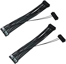 Dual PSU Power Supply 24-Pin ATX Motherboard Adapter Cable(30cm)-2pack