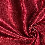 Fabulous Fabrics Satin Karminrot, Uni, 148cm breit –