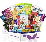 Deluxe Vegan Protein Snacks Box: Mix of Healthy Vegan Protein Bars, Cookies, Vegan Jerky, Chips & Nuts Health Care Package