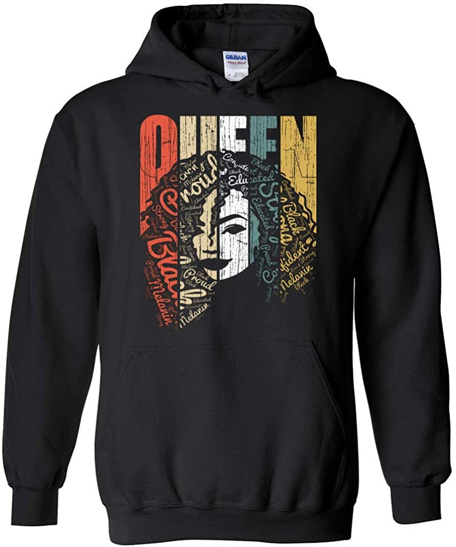 Queen Hoodie Strong List price Black Woman outlet Educated Afro Natural Hair