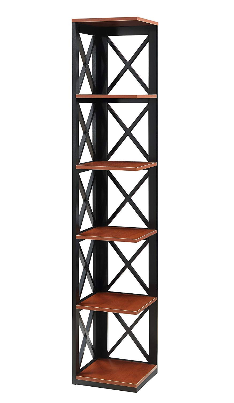 Black Convenience Concepts Oxford 5-Tier Corner Bookcase