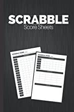 Scrabble Score Sheets: Log Book For Tracking Scrabble Scores | Up To 4 Players | Small Size | Family Fun For Scrabble Enth...