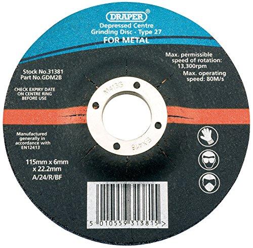 Draper 115 x 6 x 22,2 mm alésage à moyeu déporté disque de polissage