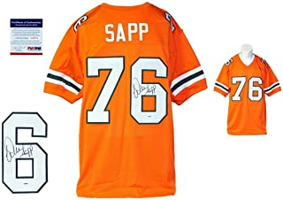 Signed Warren Sapp Jersey - Orange Witness Miami Hurricanes - PSA/DNA Certified - Autographed NFL Jerseys
