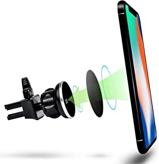 Vena [4Netic] Circle Magnetic Universal Air Vent Holder Compatible with iPhone SE 2020/XR/XS/XS MAX/X/8 Plus/8, Galaxy S10 S10+/5G/S10e, S9 S9 Plus Note 9, Google Pixel 3/3 XL, Moto G6/Play/Plus