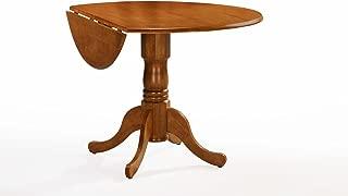 International Concepts T04-42DP 42-inch Round Dual Drop Leaf Ped Table, Oak