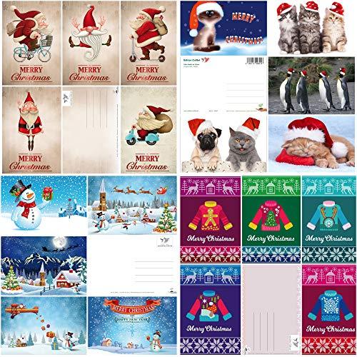 Cartoline di Natale divertenti - 20 disegni - un mix colorato di divertenti cartoline di Natale di EDITION COLIBRI