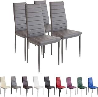comprar comparacion Albatros 2553 Milano Set de 4 sillas de Comedor, Gris