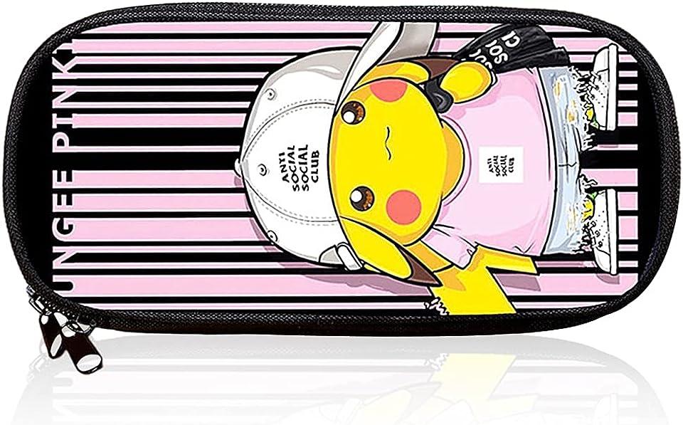 Pokemon Mäppchen, Federmäppchen, Federmäppchen Pikachu,Pokemon Pikachu Schulmäppchen für Schreibwaren, Schulsachen Federtasche, Jungen Federmappe, Mäppchen für Schule
