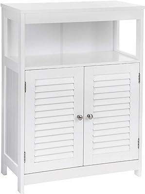 Corner Floor Cabinet with Doors and Shelves,Towel Storage Shelf for Paper Holder Vilead White Floor Standing Tall Bathroom Storage Cabinet