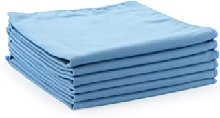 Arkwright Microfiber Suede Glass Cleaning Cloths 6 Pack (16 x 16 in, Blue)
