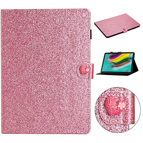 YDYX AYDD For Samsung Galaxy Tab S5e T720 Love Buckle Glitter Horizontal Flip Leather Case with Holder & Card Slots (Color : Pink)