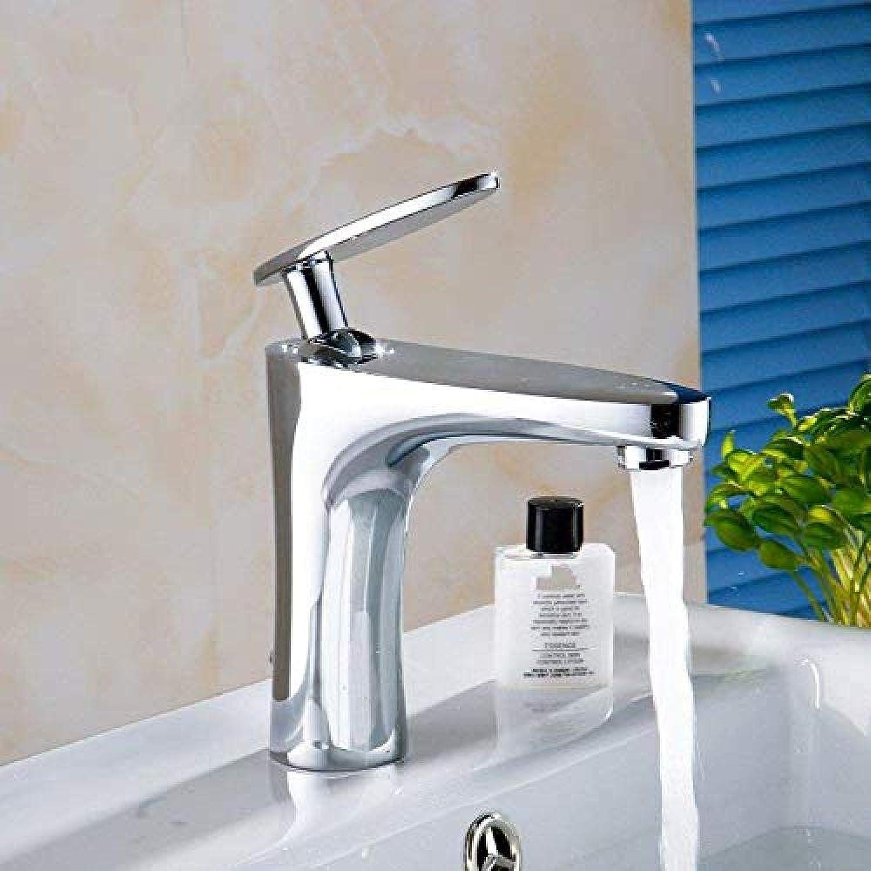 Wasserhahn Edelstahl Messing Chrom Bad Wasserhahn Armaturen Wasserhahn Wasserhahn mit LED-Licht, keine Leistung, leuchtende Farbwechsel, High Basin Wasserhahn