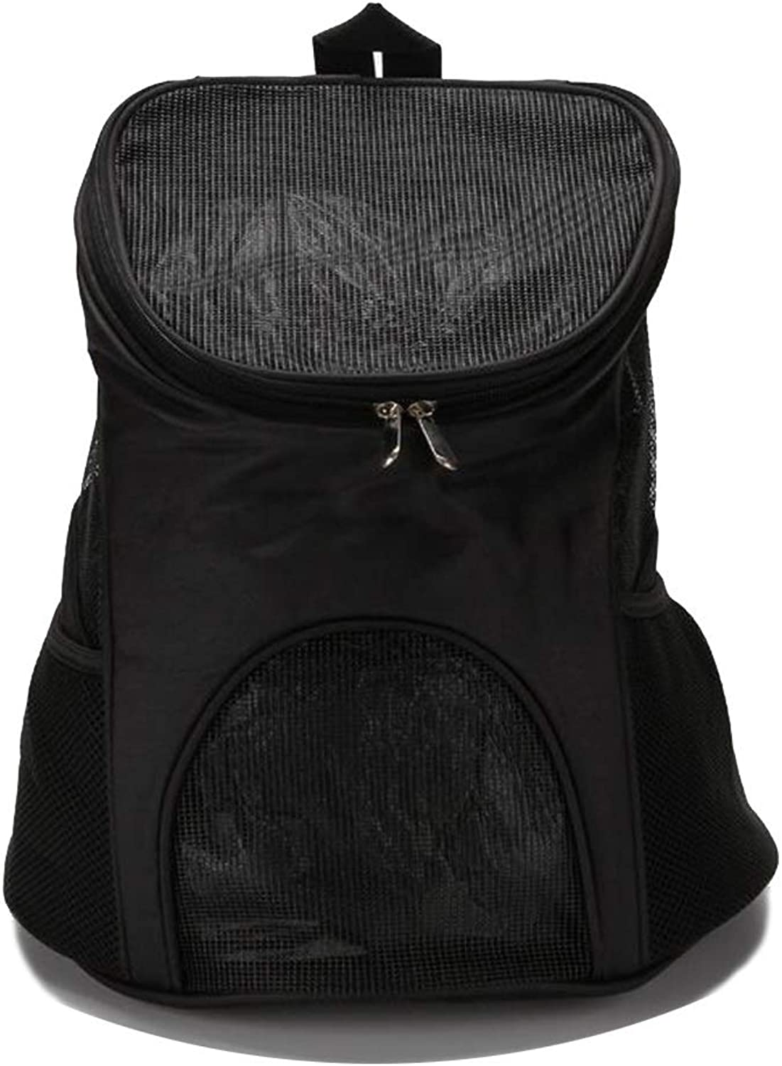 Pet Backpack Lightweight Breathable Travel Bag Portable Cat Chest Backpack (color   Black)
