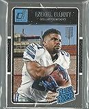 2016 Panini Donruss Football Dallas Cowboys Team Set 15 Cards W/ Base And Rated Rookies Ezekiel Elliott Dak Prescott Rookie Cards. rookie card picture