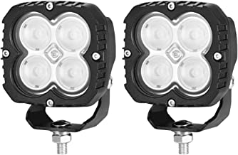 LIGHTFOX 2x 4inch CREE LED Work Light Flood Square Driving Lamp Truck Boat offRoad 4X4 4WD 3 Year Warranty