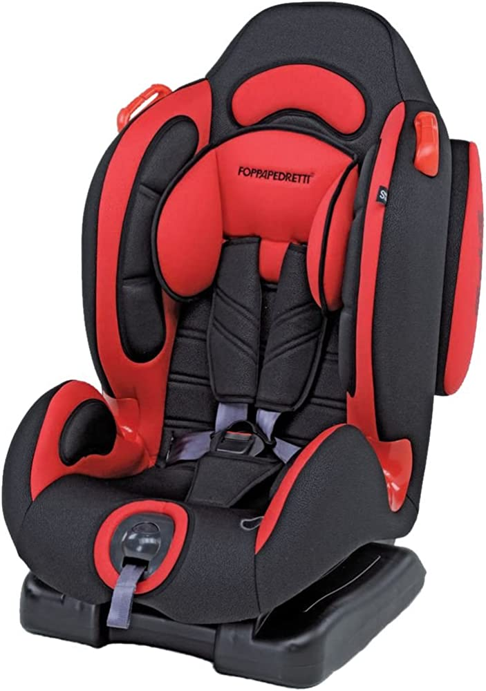 Foppapedretti dinamyk 9-25 seggiolino auto, rosso gruppo 1/2 (9-25 kg) per bambini da 9 mesi a 6 anni circa 9700383000