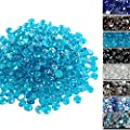 Uniflasy 1/2 Inch Fire Glass for Fire Pit, Fire Glass Beads, Fire Glass Drops for Natural or Propane Fireplace, Garden Landscaping, Safe for Outdoors Indoors Firepit Glass, 10 Pound, Caribbean Blue