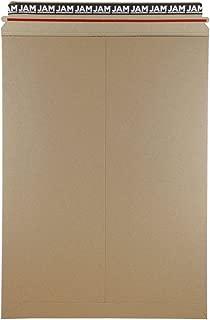 JAM PAPER Stay-Flat Photo Mailer Envelopes with Peel & Seal Closure - 13 x 18 - Brown Kraft - 6 Rigid Mailers/Pack