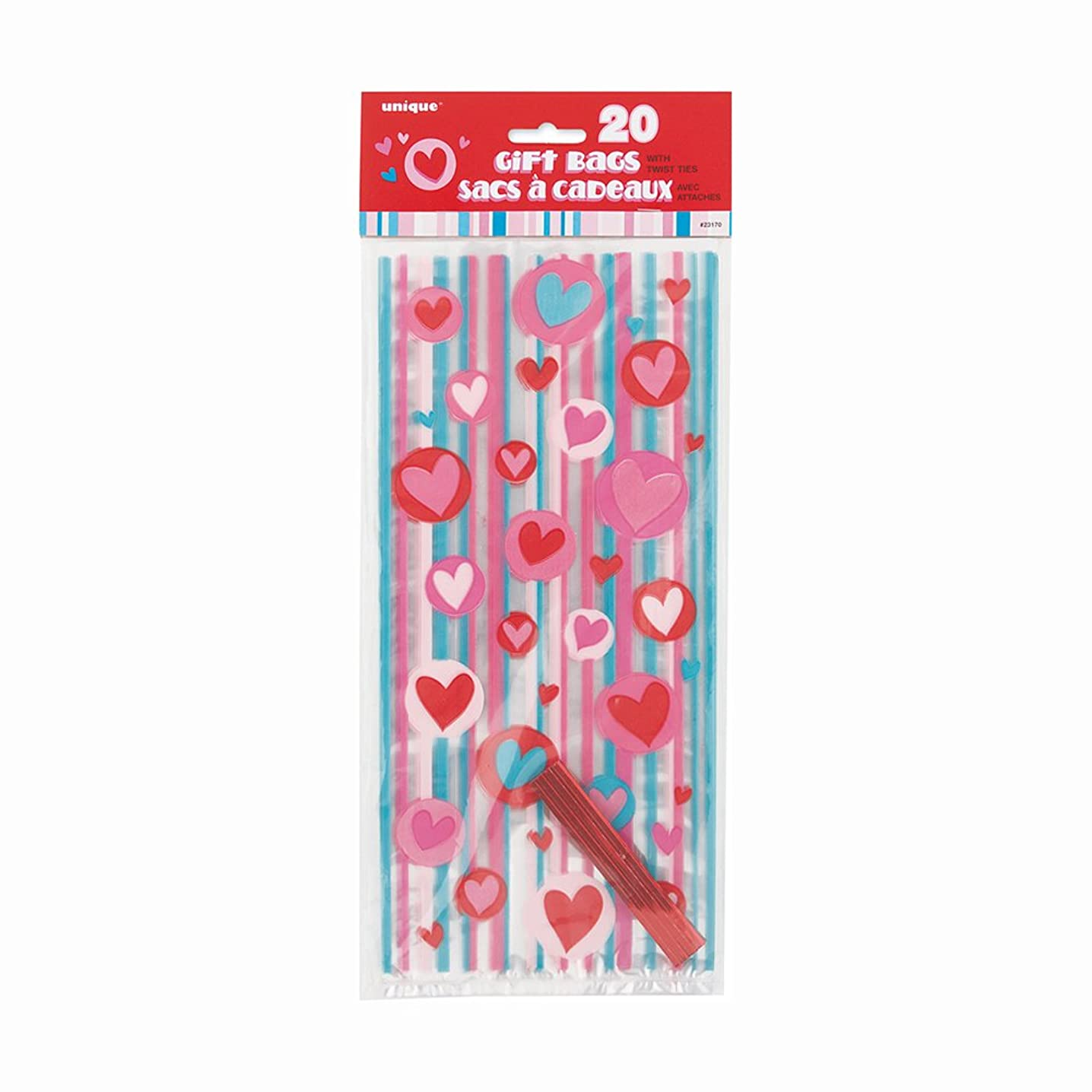 Simply Hearts Valentine's Day Cellophane Bags, 20ct