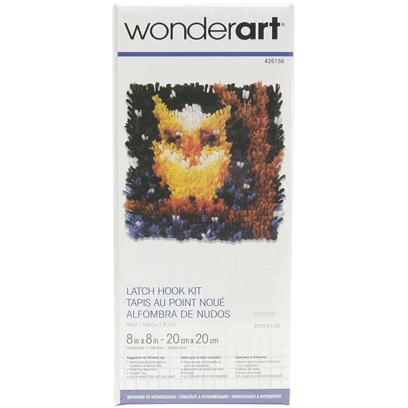 Spinrite Wonderart Latch Hook Kit, 8 by 8-Inch, Hoot