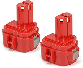 PowerGiant 12V 2.0Ah Replacement Battery for Makita 1222 1234 1233 1220 PA12 192598-2, 6213d 6217d 6270d 6313d 6227d (2-Pack)