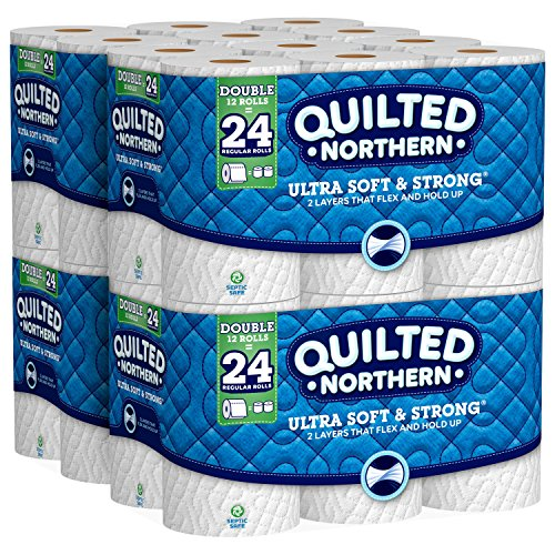 Quilted Northern Ultra Soft & Strong Toilet Paper, 48 Double Rolls, 48 = 96 Regular Rolls, 4 Pack of 12 Rolls