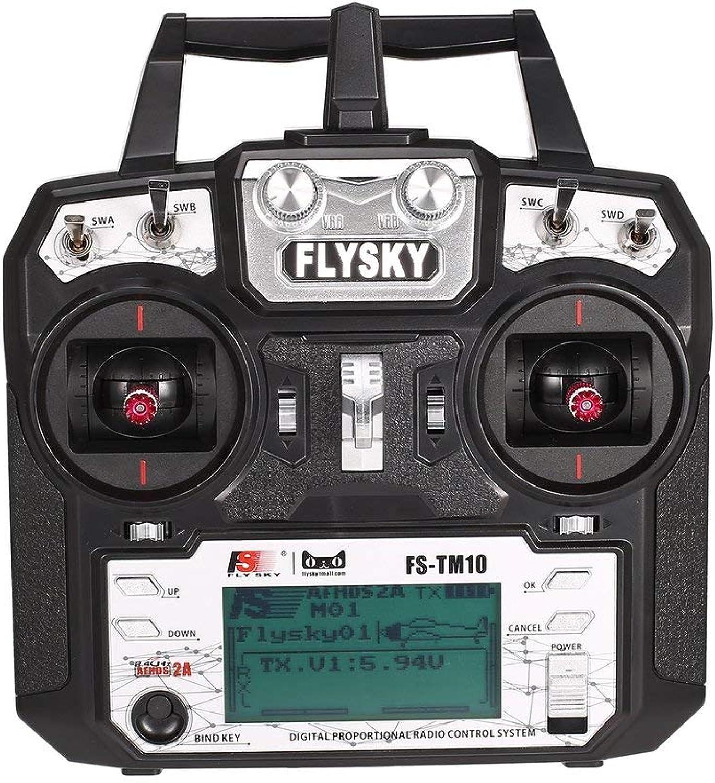 Flysky FSTM10 FSi6X 10CH 2.4GHz AFHDS RC Transmitter Radio Model Remote Controller System with FSIA10B Receiver Rone life