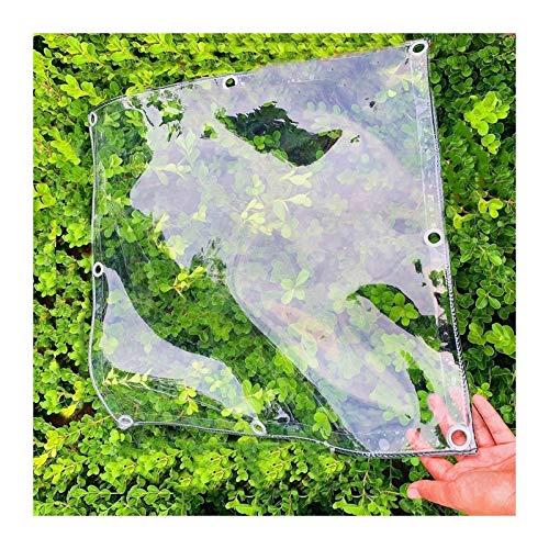 YANJINGYJ Lona Impermeable, Protección Transparente Duradera 400g/m² Toldo, Con Ojales for Copertura 0.3mm Canvas for GardenMate Muebles Jardín Exteriores Gazebo ( Color : Clear , Size : 1x1m )