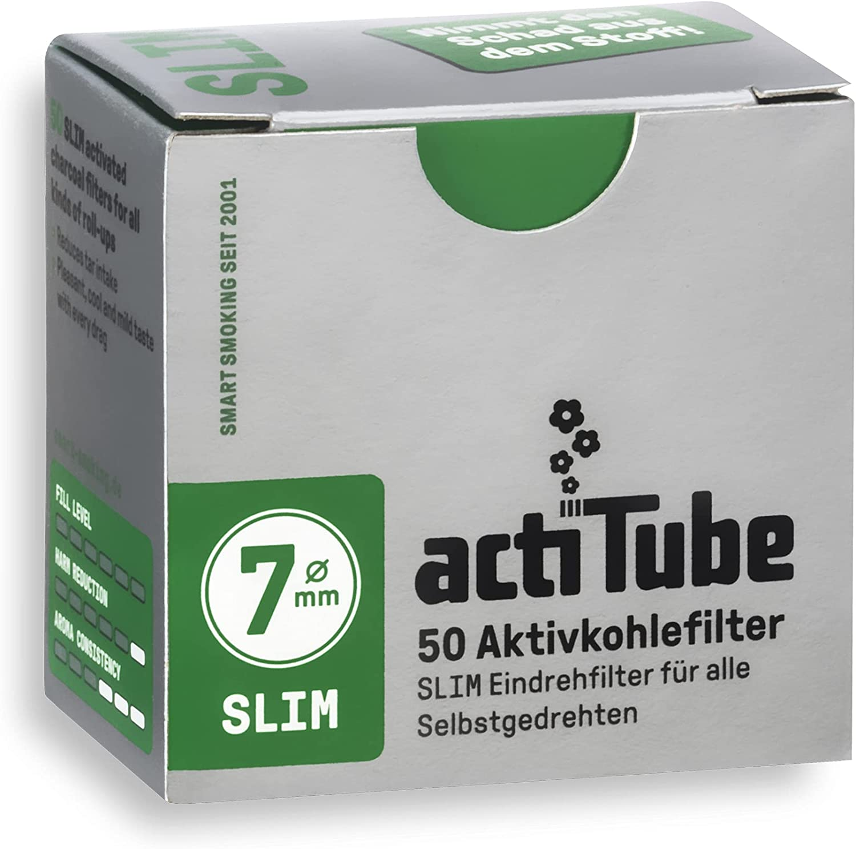 actiTube Filtros de carbón activo Slim (10 x 50 unidades)